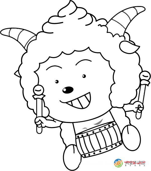 16张超经典的喜羊羊的简笔画图片