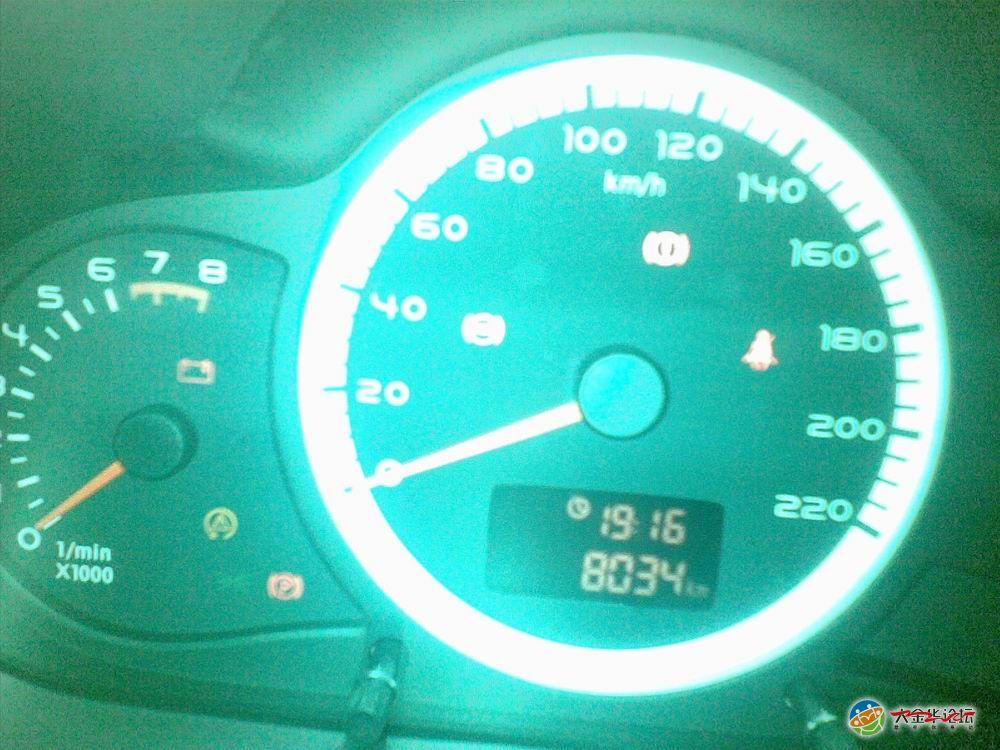 奇瑞A3 8000多点公里 故障灯亮起 0579浙中车友会高清图片