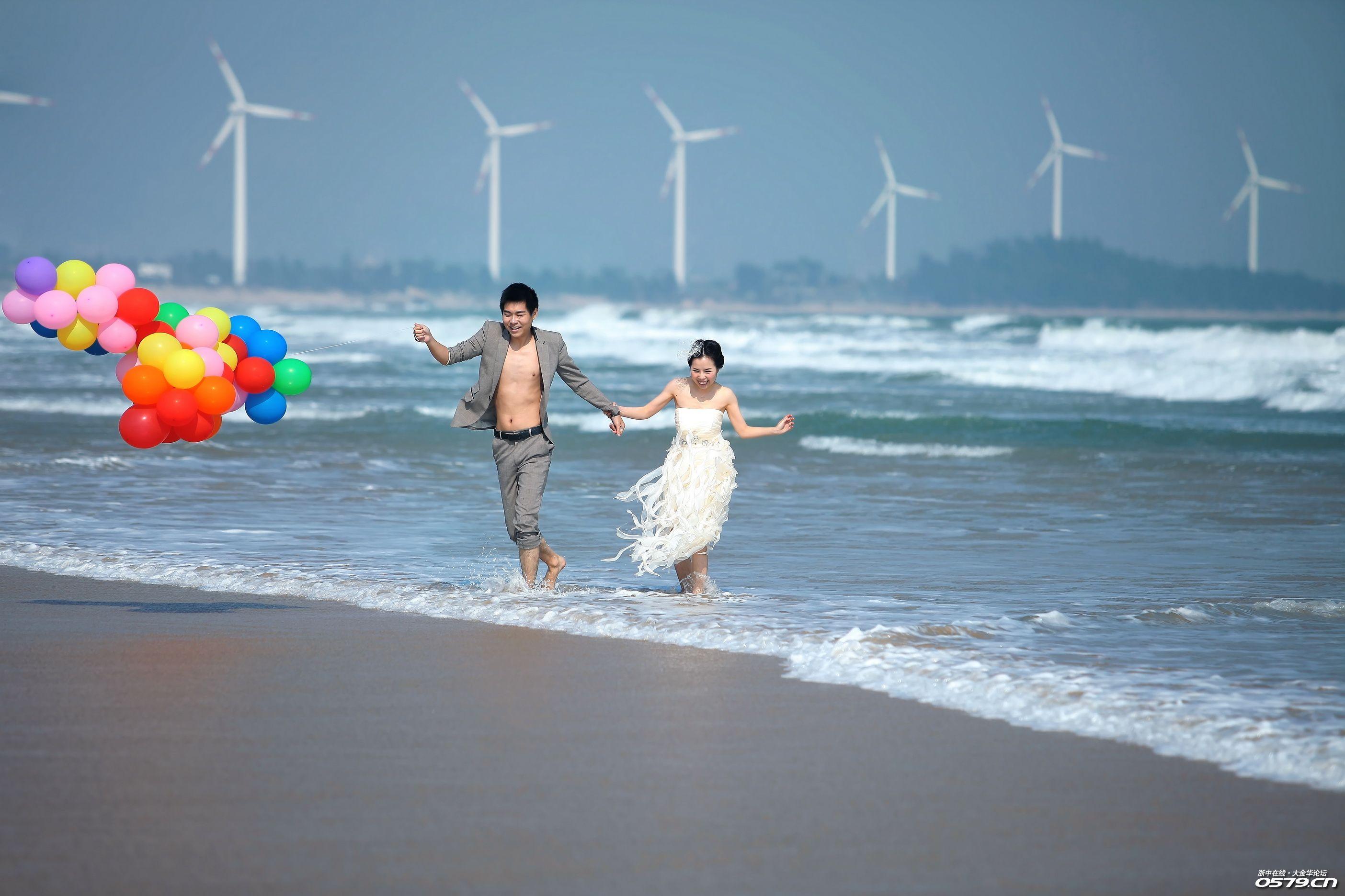 海边小清新风景物流