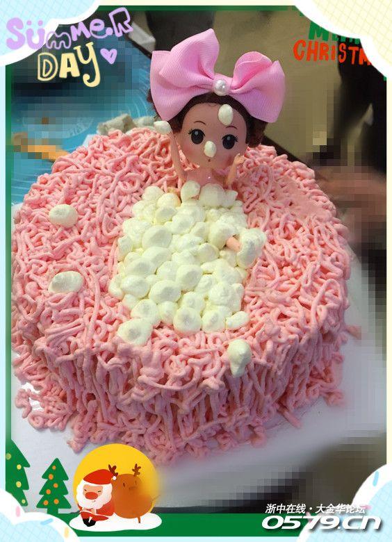 DIY芭比娃娃洗澡澡蛋糕图片