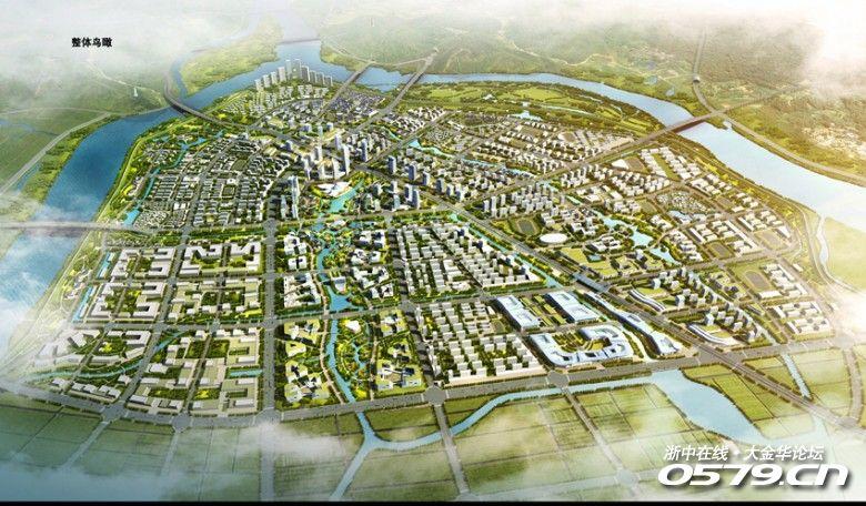 你期待吗,金华兰溪组团中心城市,未来还有高铁新城