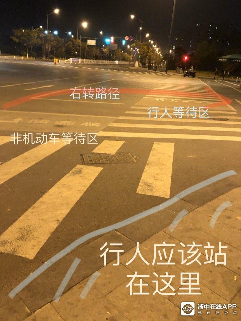 路口等候区这么设计是不是有问题?